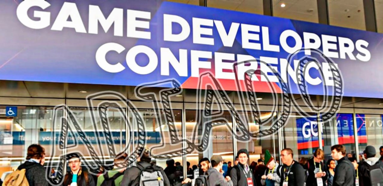 Entrada do evento Games Developers Conference (GDC20) com marca de Adiado por conta do corona vírus.